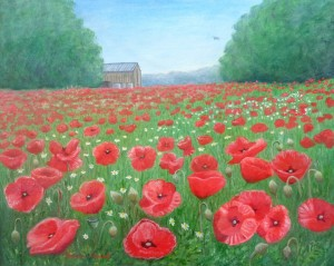 Studio 102 Susan Smart - Poppies medium